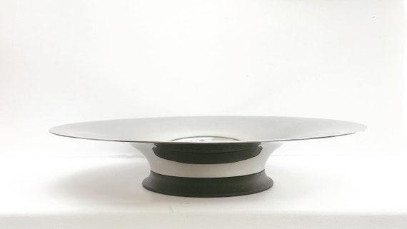 Erik Bagger Modernist Stainless Steel large bowl Centerpiece fruits wedding gift Modern decor Scandinavian Design Danish nut dish walnut