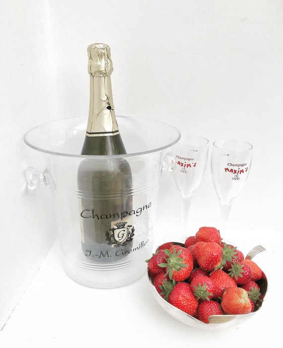 Champagne flutes for two glasses wedding flutes strawberries ice bucket glasses couple gift wedding gift acrylic christmas Bridal Bridesmaid