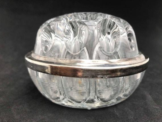 Silver 835 Flower vase Frog Glass Vintage Glass Flower Frog,Vintage, Wedding Gift
