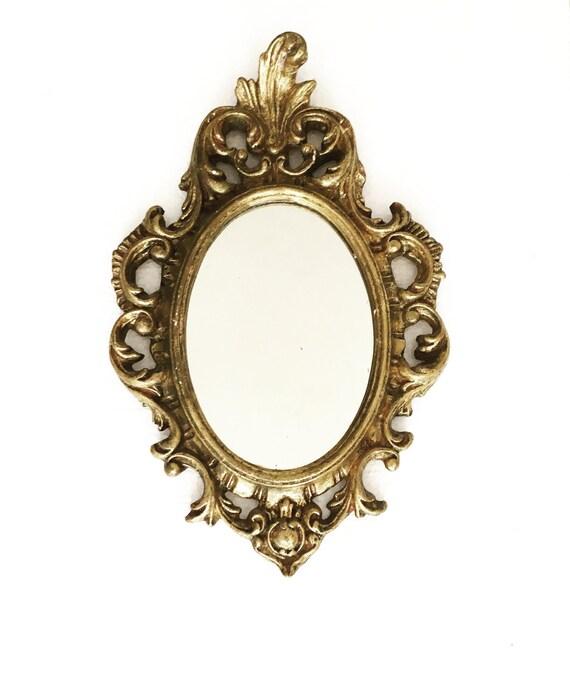 6549e7d04196 Gold Mirror 1960s Vintage Gilt Stucco Mirror Gold Mirror