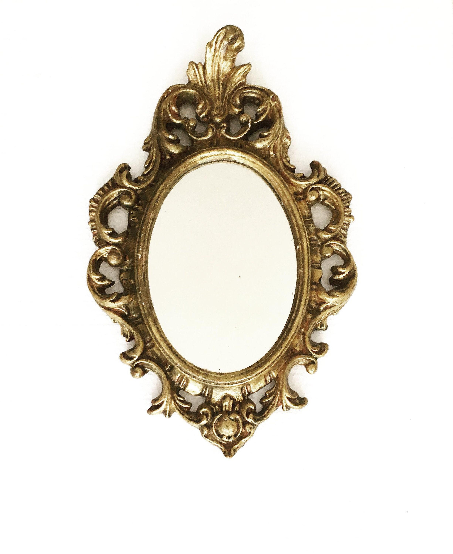 088628f7f079 Gold Mirror 1960s Vintage Gilt Stucco Mirror