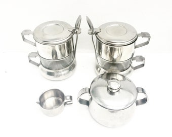 Coffee maker vintage french percolator single cup drip coffee filter Breakfast set coffee filter single cup stainless steel french vintage