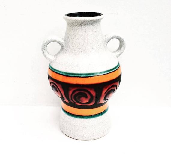 Fat Lava vase , Amphore Dumler Breiden , West Germany  Pottery Fat lave vase - 302/21 - 1960-1970's