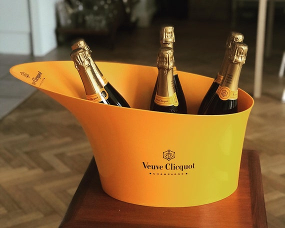 Veuve Clicquot champagne XXL ice bucket  Extra large 6 bottles  cooler wine orange decor bar cart gift for him for dad garden party decor
