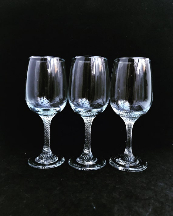 Vintage Wine Glasses Crystal Footed  Aperitif Glasses Mid century bar cart Gift for him man cave