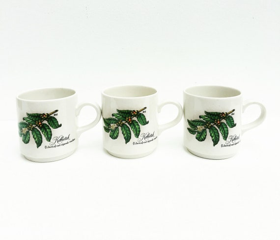 Coffee mugs Villeroy and Boch, Luxembourg, Vintage Koffietak, Liberica , Breakfast mug, Liberica with ripening fruits  Cups Coffee Dutch
