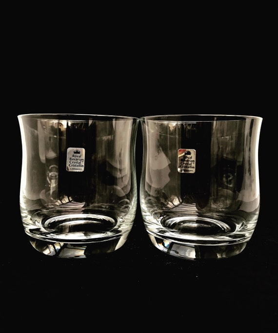 Whiskey glasses crystal whisky on the rocks double bourbon extra large cocktail set of 2 bar cart decor gift for him pair cocktail glasses