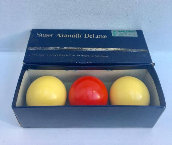 Billiard balls Aramith De Luxe Vintage Balls Super Aramith De Luxe Starter Ball Set 61,5 ,Set of 3 Gift for Him  Billiard Game, Belgium