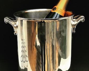 Christofle Champagne Bucket Vintage Art Deco Silver plated Ormesson gift him wine holder barware mixology wedding gift decor bar cart
