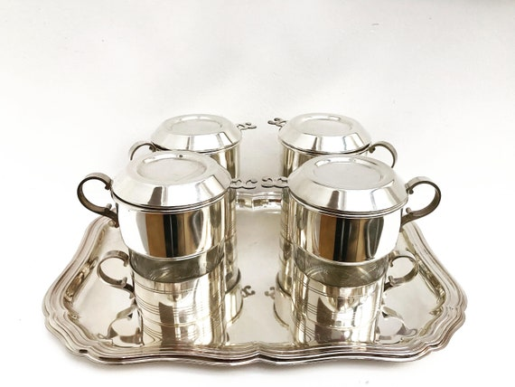 Vintage Coffee Makers Art Deco Single Cup Coffee filter french coffee Filter Single Cup  Silver Plated Vintage Drip O Lator, Belgian coffee