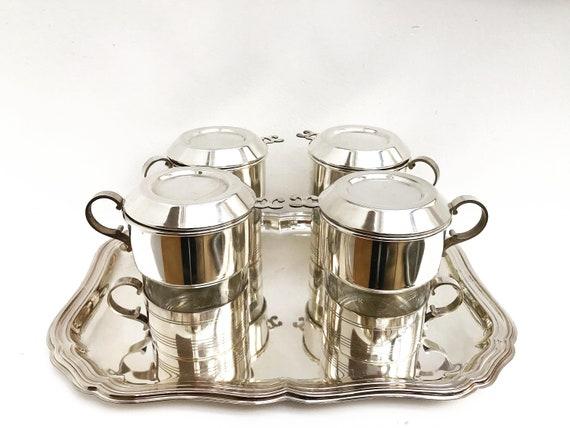Vintage Coffee Makers Art Deco Single Cup Coffee filter french coffee Filter Single Cup  Silver Plated Vintage Drip O Lator, Belgian coffee