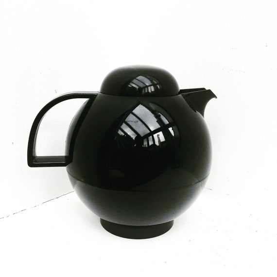 Thermos Vintage EMSA Rond Vacuum Jug Carafe Made in West Germany, Picnic, Tea, Coffee, Water Thermos EMSA Plastics Vacuum Flask  Germany MCM