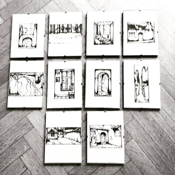 Vintage Art by Anton Pieck, 10 prints  framing, Vintage Anton Pieck Framed Art Pieces,1960s , Anton Pieck , Holland , Netherlands Prints