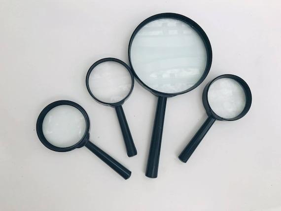 Vintage Magnifying Glass Japan Set 4  Desk Large small size, Magnifying Lnifying Glass Ancient magnifier round , Made in Japan gift for him