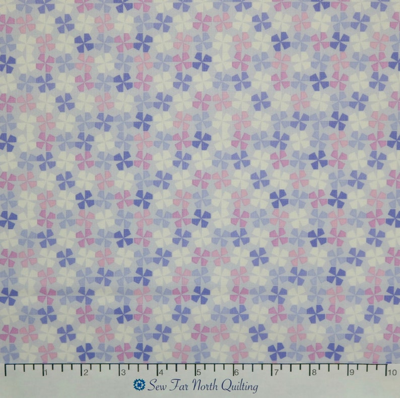 Benartex Fabrics Cotton Quilting Sewing Craft Apparel Fabric by the Yard Little Charmers Pinwheels Light Purple