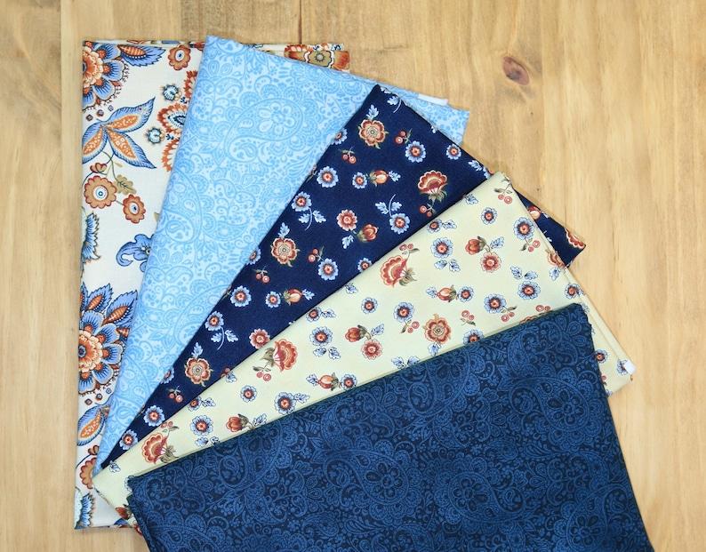 Torrington Collection Hamden Dark Blue Fabric Benartex Fabrics Navy Small Floral Cotton Quilting Apparel Sewing Fabric by the Yard