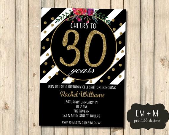 Artículos Similares A Invitación De Cumpleaños 30 Anima A Los 30