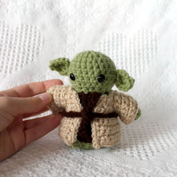 Star Wars Yoda Plush Jedi Master Inspired Stuffy Amigurumi Etsy