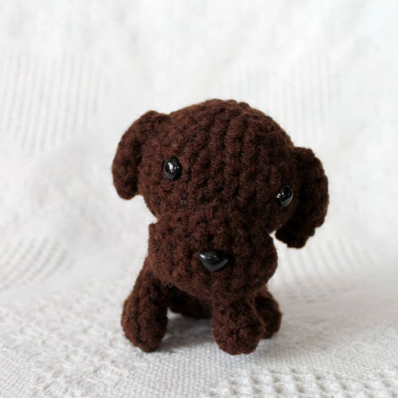 Chocolate Lab Plush Amigurumi Plush Puppy Dog Plush Soft Etsy