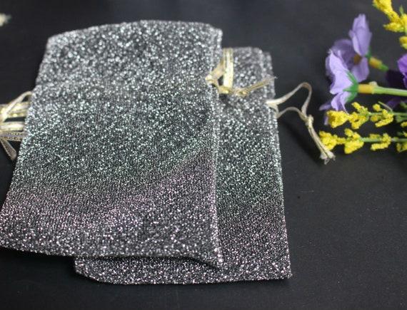 20pcs couleur argent de cordon sacs pochette cadeau de argent mariage faveur emballage sac bijoux fête sacs, sac en tissu de soie sacs-cadeaux bijoux 4a363e