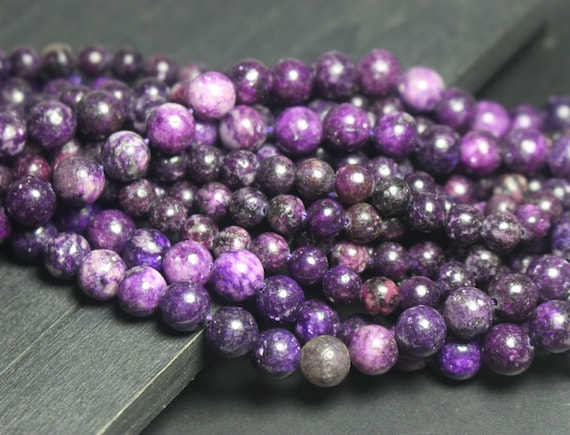 Pcs Gemstones DIY Jewellery Making Crafts Lepidolite Round Beads 8mm Purple 45