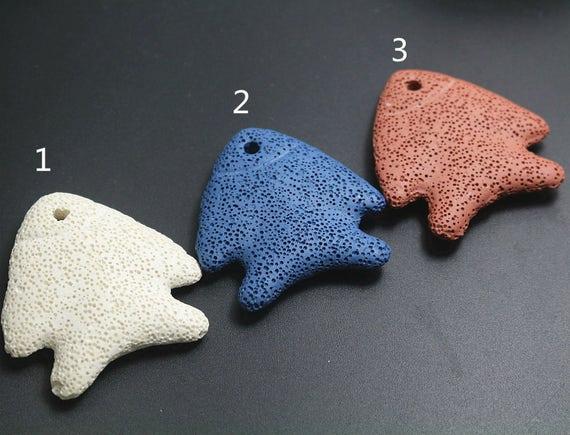 5pcs Lava Pendant beads star shape Volcanic Rock Pendant Beads,Jewelry accessories,DIY craft jewelry accessories,50x50x11mm