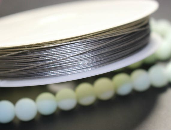 100 Meters Silver Beading Cord Wire Thread Tiger Tail 0.38mm Jewelry cord