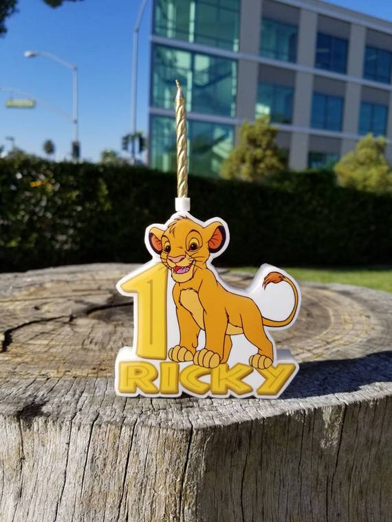 Lion King Birthday Candle