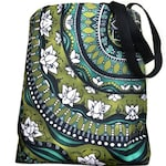 Lotus Mandala Shoulder Purse Tote, Sturdy Laptop Tote, Large Beach Bag, Grocery Shopping Tote, Travel Pouch, Book Bag, Back To School Bag