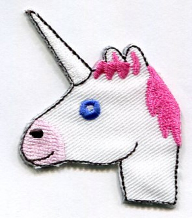 HORSE IRON ON APPLIQUE PATCH 1 5//8 X 1 1//2  inch