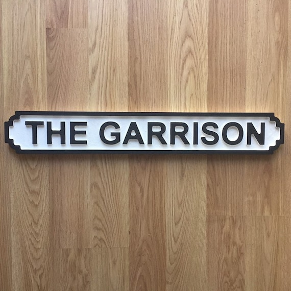 Peaky Blinders Metal Street Sign The Garrison // 2 Sizes Available Man Cave