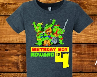 Ninja Turtles birthday shirt..