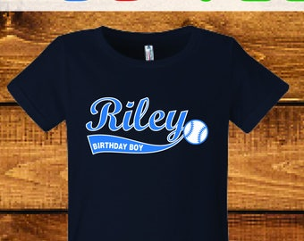 Sale! Personalized baseball birthday shirt, boys baseball shirt.