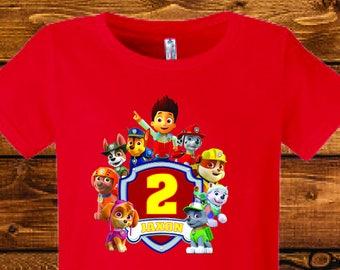 FREE SHIPPING Girl Paw Patrol Birthday Shirt Add ANY Name Age Skye