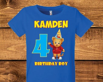 Daniel tiger birthday shirt.
