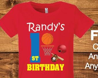 Baseball Birthday Shirt Personalized.