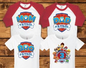 Paw Patrol Birthday Shirt