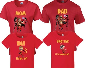 a4f84697 Incredibles 2 Shirt Incredibles 2 T-Shirt Incredibles 2 Adult T-Shirt  Incredibles 2 Party Incredibles 2 Birthday Personalized