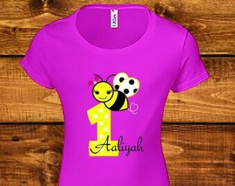 Sale! First Birthday Shirt, Baby Girls First Birthday Shirt, 1st Birthday Girl Clothes Outfi.
