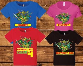 Teenage Mutant Ninja Turtles Birthday Shirt..