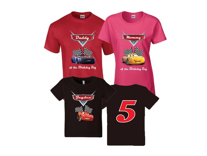 Disney Cars Birthday Shirt Custom Personalized