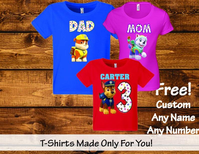 f04a81965b339 Sale! Paw Patrol Shirt - Paw Patrol Birthday Shirts - Matching Paw Patrol  Family Birthday Party Shirts