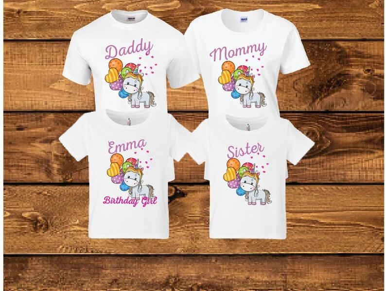 Sale Sale Birthday girl unicorn shirt.