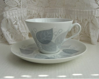 Arabia Finland: LEHMUS Series Coffee Cup And Saucer, Pattern By Raija Uosikkinen
