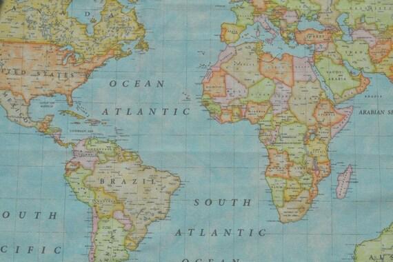 World map fabric map fabric decor fabricworld map print etsy world map fabric map fabric decor fabricworld map print canvas 110280cm extra wide gumiabroncs Image collections