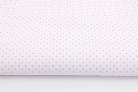 Cotton Fabric Pink Dots 2mm On A White Background Dots Etsy