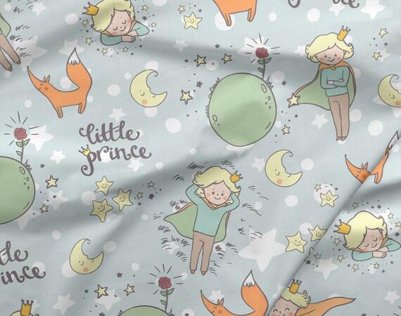 0.50 cm/0.55 yard, Premium Cotton Fabric ,Little Prince  Fabric,  Half yarde/half metre
