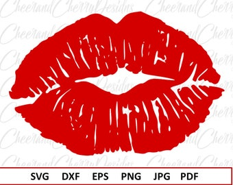 Kiss Svg Valentines day svg for Valentine svg files for Cricut Distressed Svg files for Silhouette Cameo Lips Svg Grunge Svg Dxf Eps Jpg Png