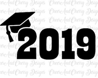 Graduation hat svg | Etsy