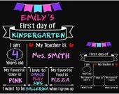Back to school svg file First Day of School SVG Chalkboard sign SVG Printable Kindergarten svg Preschool Svg PreK svg Silhouette SVG Cricut